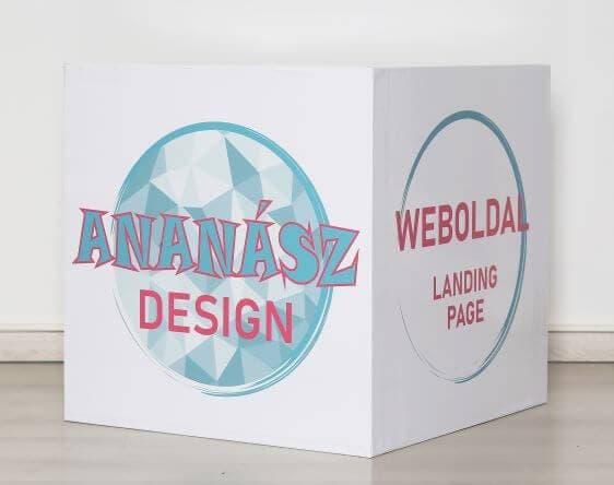 ananász design weboldal landing page