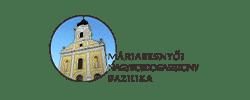 Máriabesnyői Bazilika logó WordPress weboldal készítés